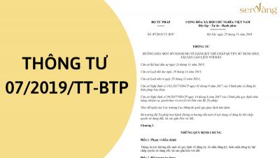 Bộ tư pháp ban hành thông tư 07/2019/TT-BTP – Văn bản pháp luật