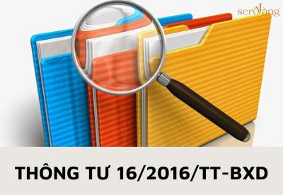 Thông tư 15/2016/TT-BXD – Văn bản pháp luật