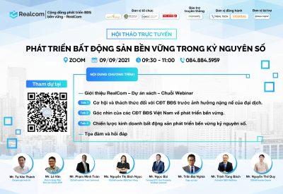 RealCom – Phát triển Bất động sản bền vững là xu thế của Việt Nam và thế giới